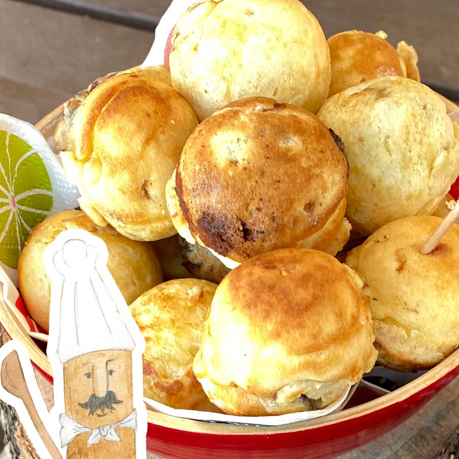 森のシェフ「カタマ」の ころころパンケーキ