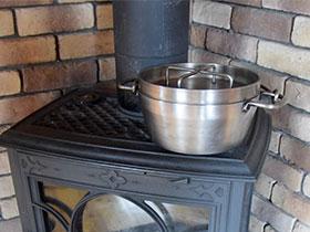 ストーブトップで保温<br>※調理時間を要します