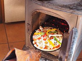 炉内でオーブン料理
