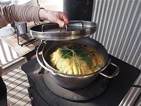 ストーブトップで煮炊き